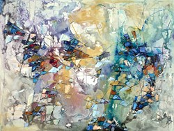 Abstract View I by Maya Eventov - Original Painting on Box Canvas sized 48x36 inches. Available from Whitewall Galleries